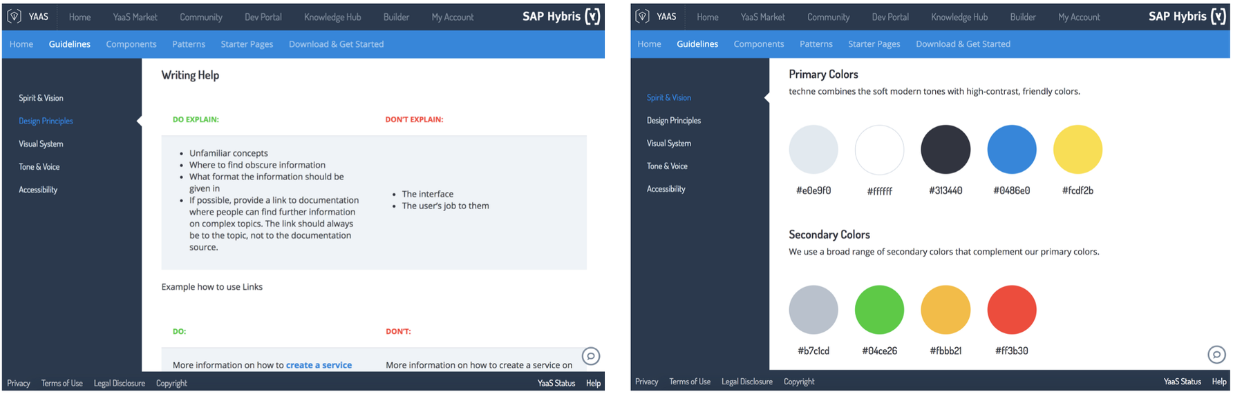 SAP hybris techné User-Interface Guidelines